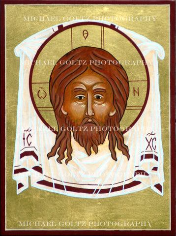 Holy Mandylion Icon Mounted Print (Old)