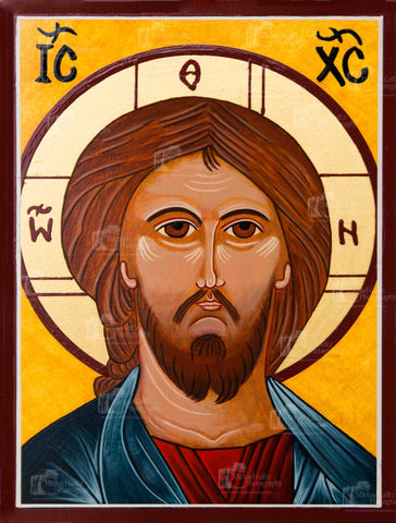 Christ the Lord Almighty (bust) by Lori Icon Mounted Print