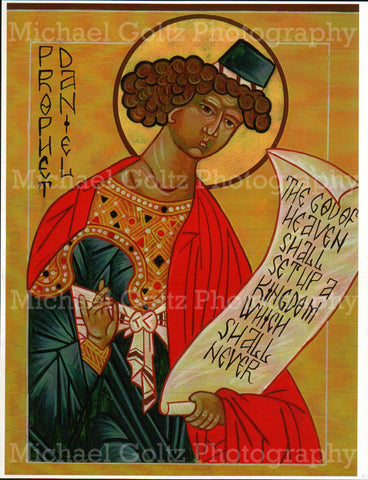 Prophet Daniel Icon Mounted Print