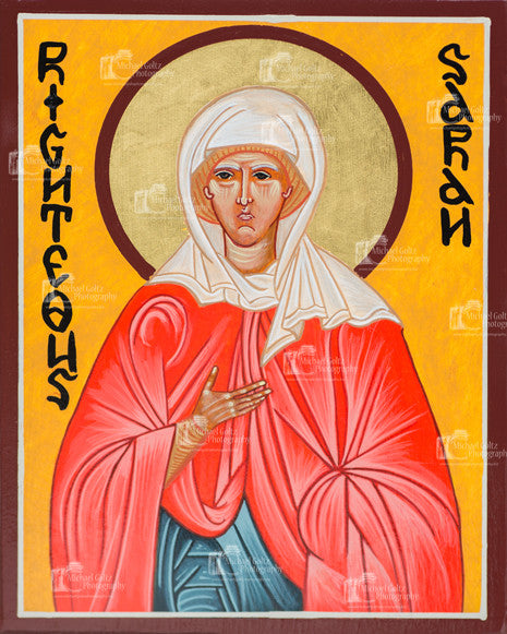 Righteous Sarah Icon Mounted Print