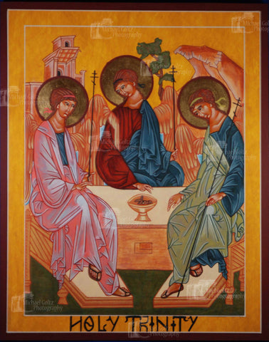 Old Testament Trinity Icon Mounted Print