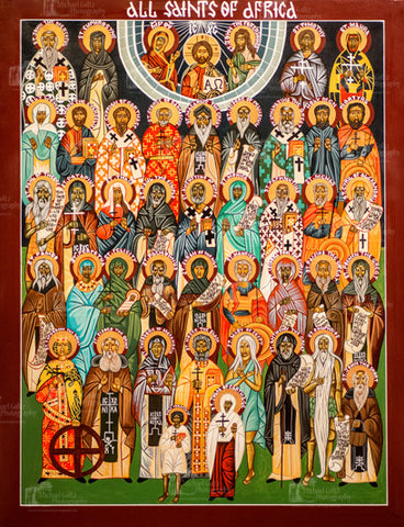 All Saints of Africa Handpainted 50x38 Icon
