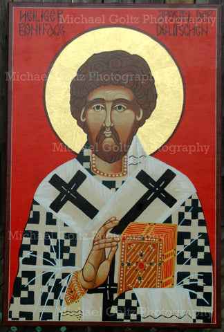 St. Boniface Apostle to Germany Handpainted Icon 24x36 Inches