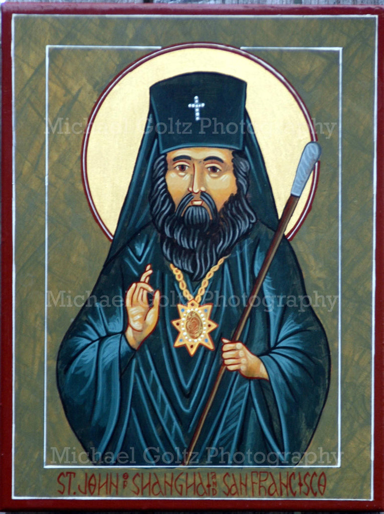 St. John of Shanghai and San Francisco Icon Mounted Print