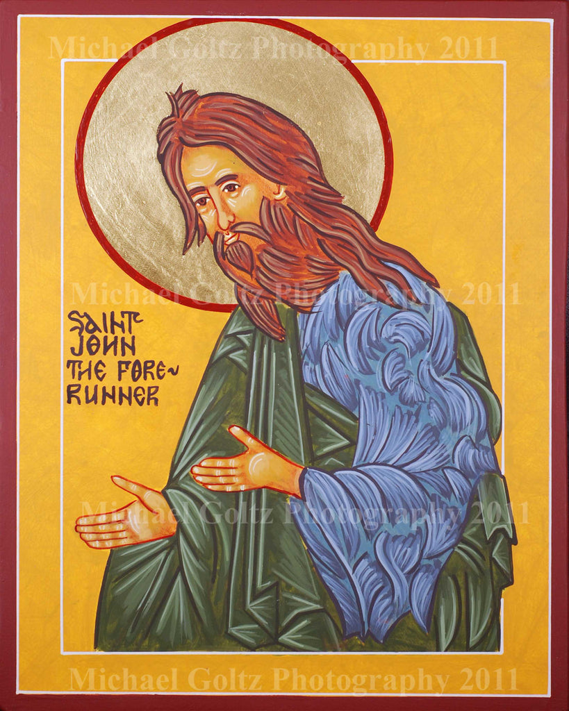 St. John the Forerunner Icon Mounted Print