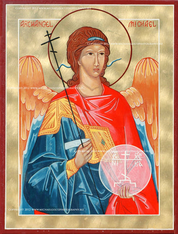 St. Michael the Archangel Icon Mounted Print