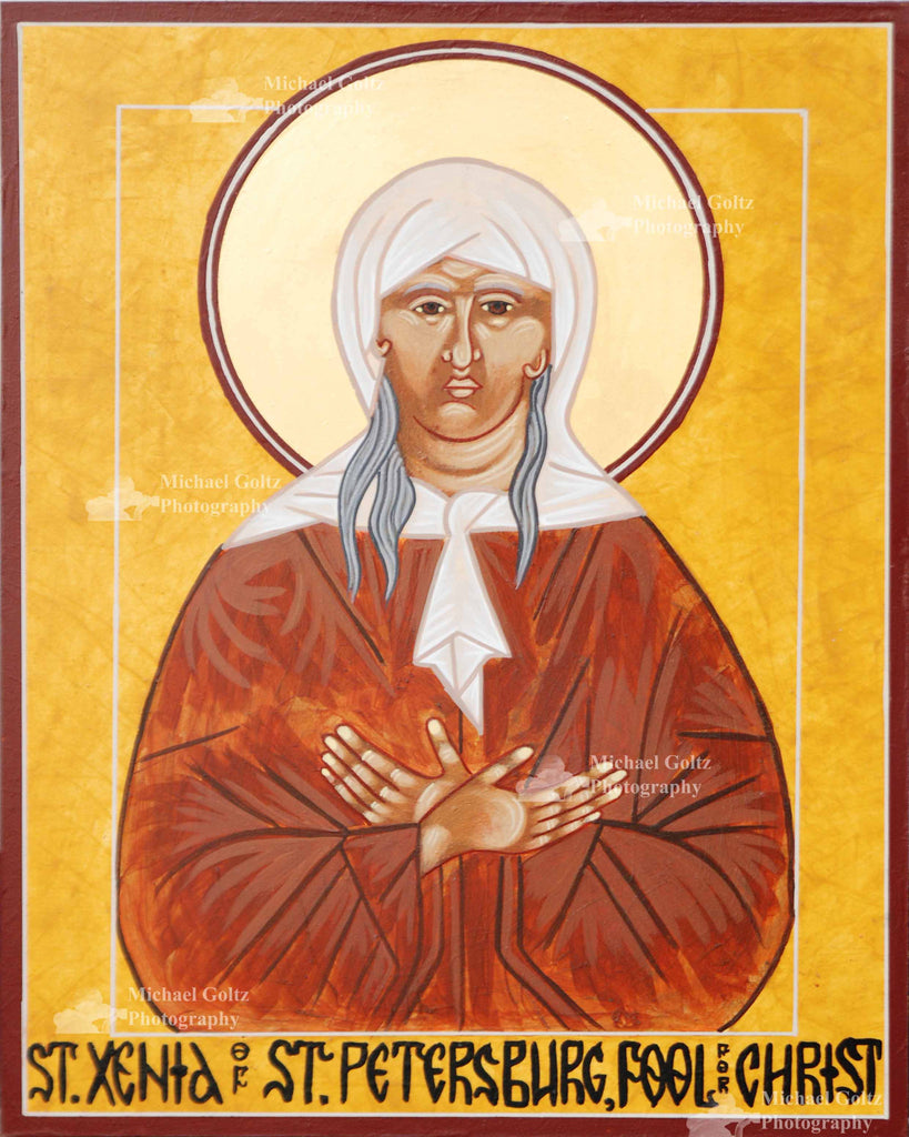 St. Xenia of St. Petersburg Handpainted 12x16 Icon