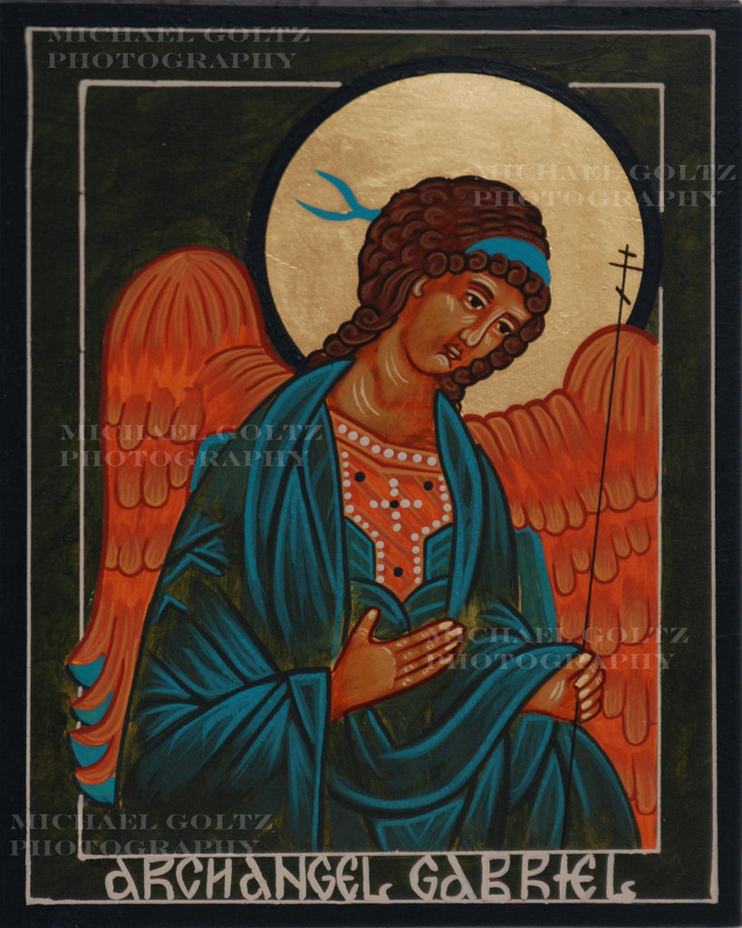 Archangel Gabriel Icon Mounted Print