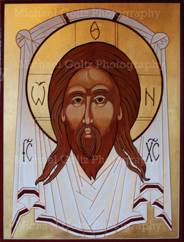Holy Mandylion Icon Mounted Print