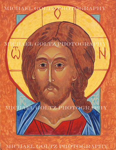 Christ the Lord Almighty (bust) Handpainted Icon 9x12 Inches