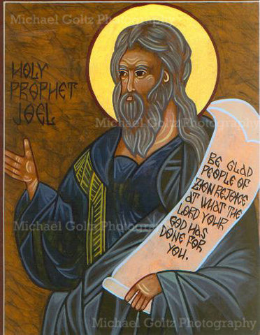 Prophet Joel Icon Mounted Print