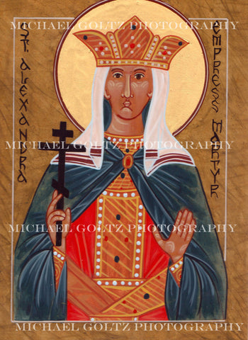 Empress St. Alexandra Icon Mounted Print