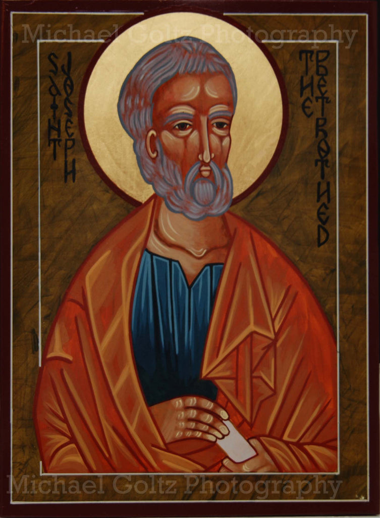 St. Joseph the Betrothed Icon Mounted Print
