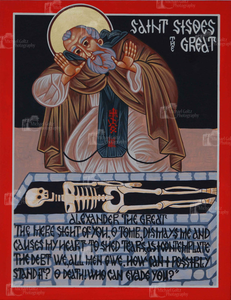 St. Sisoes the Great Icon Mounted Print
