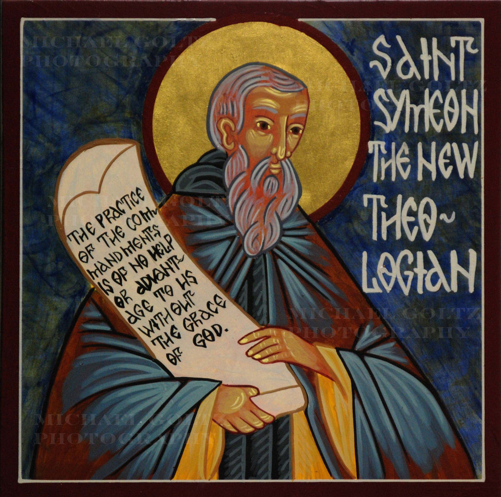 St. Symeon the New Theologian Icon Mounted Print