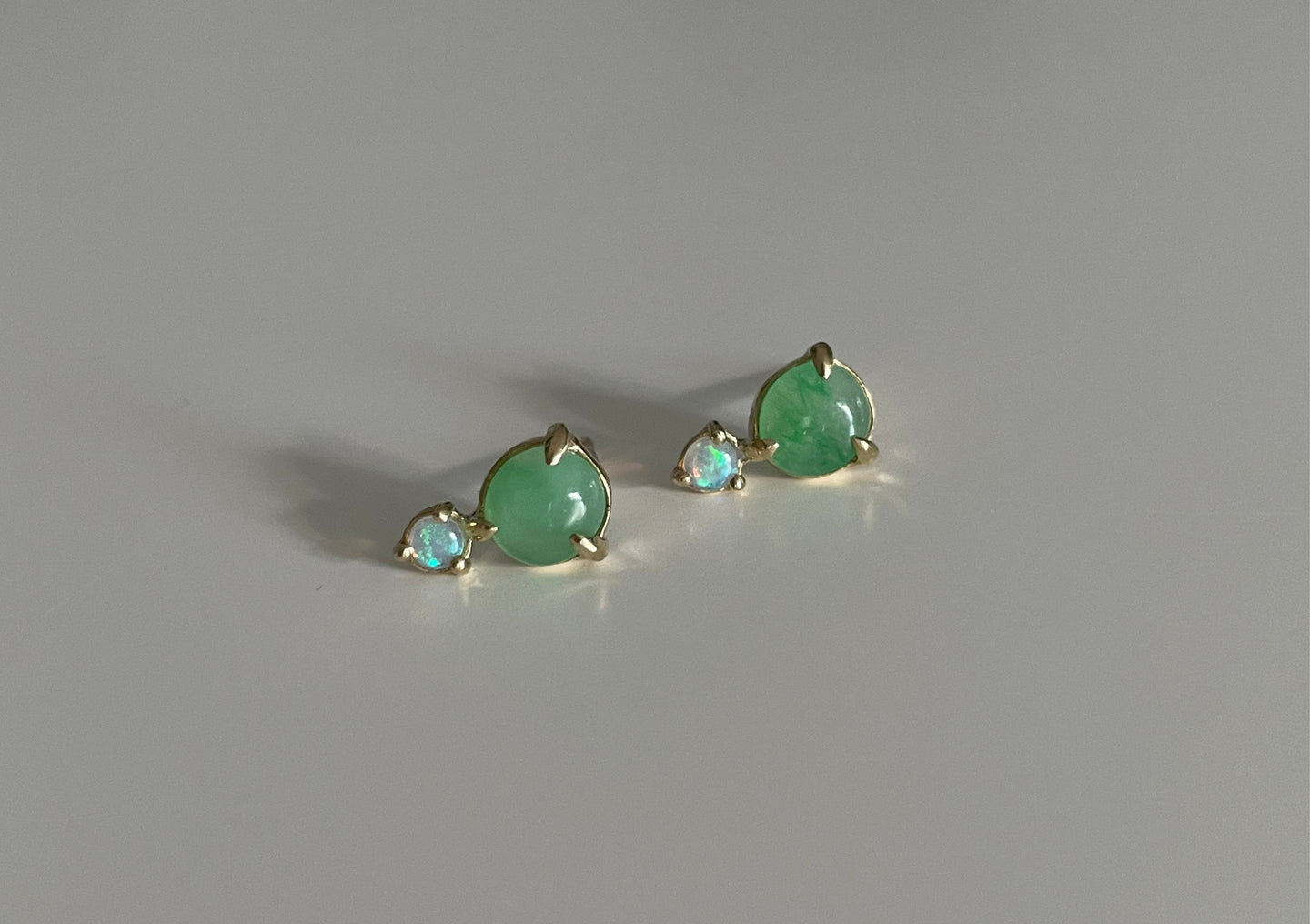 Ali Double Studs | Green