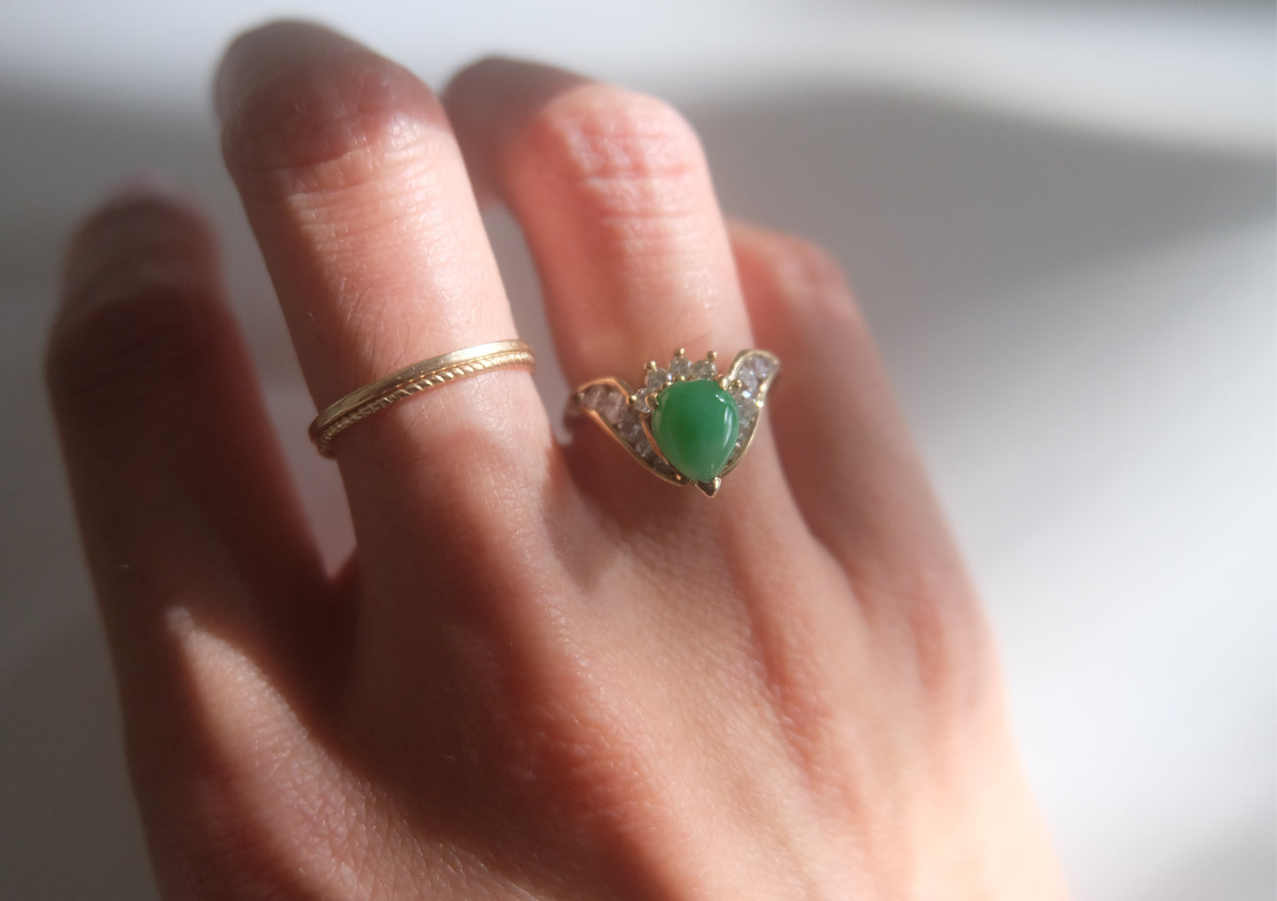 Diamond Jadeite Ring
