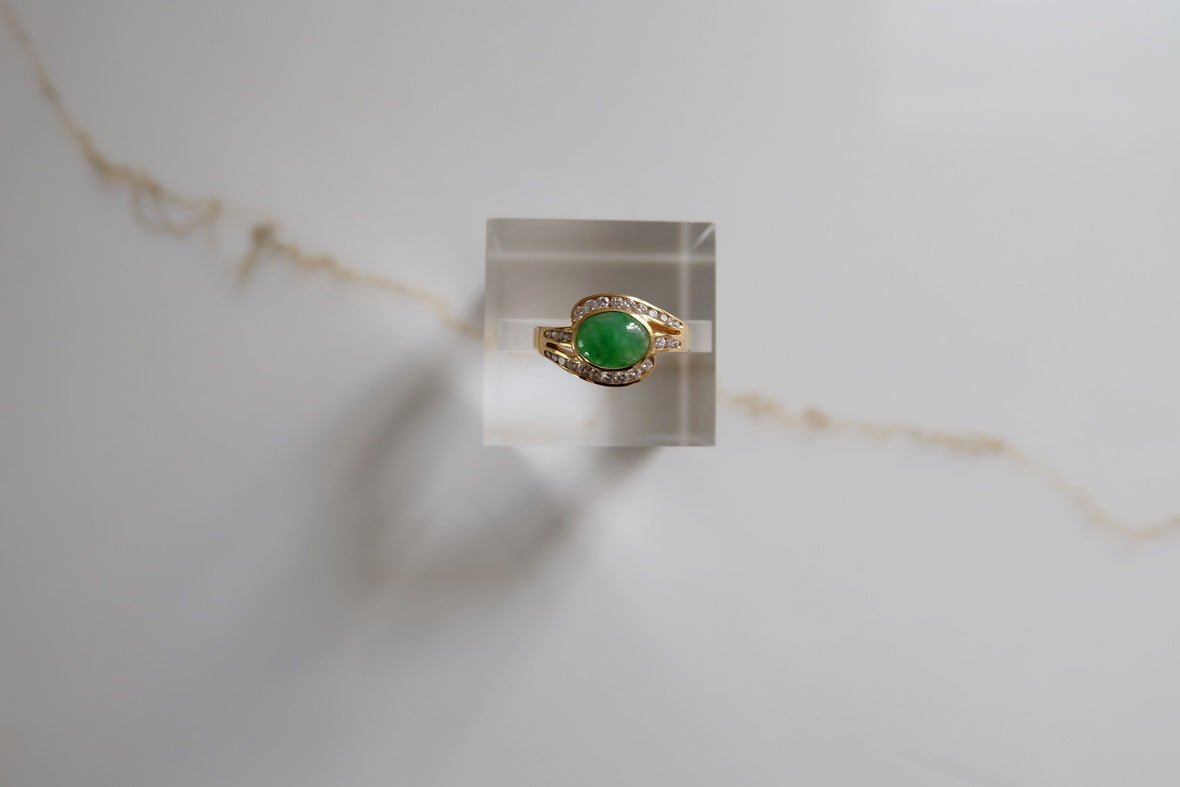 Diamond Jadeite Ring II