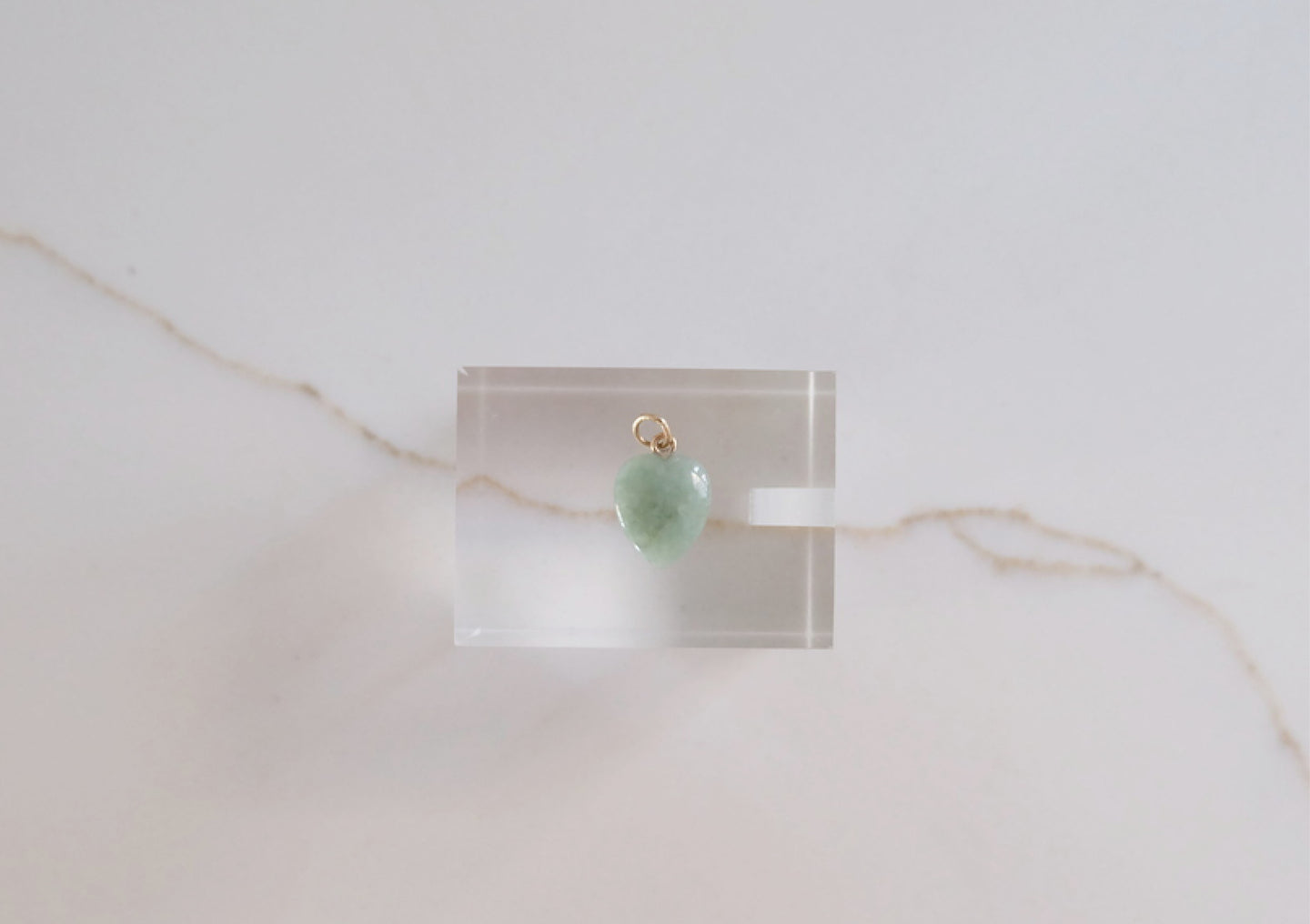 Small Heart-Shaped Green Jadeite Pendant