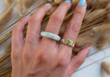 Load image into Gallery viewer, Carved Jadeite Ring I