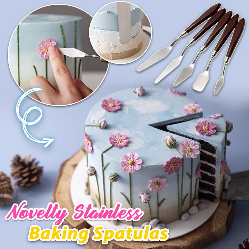 Novelty Stainless Baking Spatulas - 5 PCS