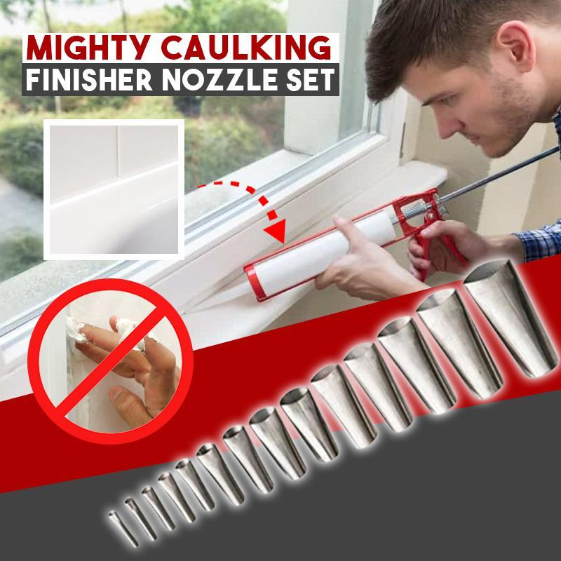 Mighty Caulking Finisher Nozzle Set-14pcs