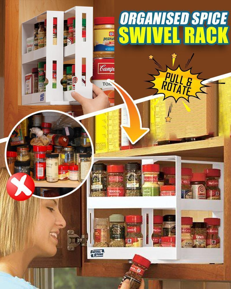 Organized Spice Swivel Rack