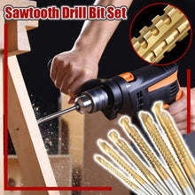 Load image into Gallery viewer, Sawtooth Drill Bit Set-6pcs