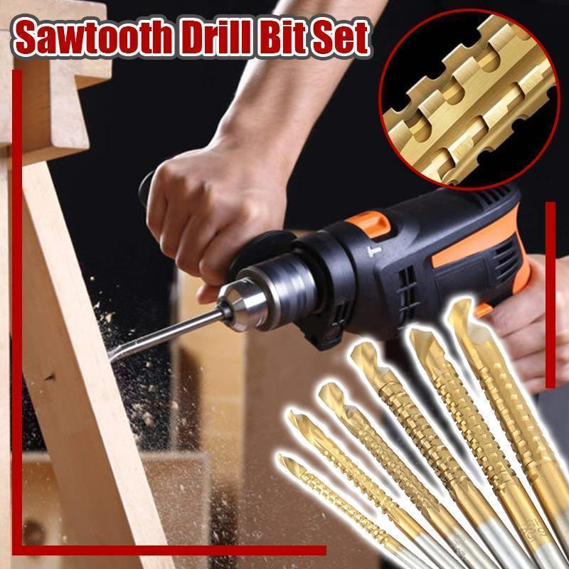 Sawtooth Drill Bit Set-6pcs