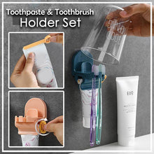 Load image into Gallery viewer, Toothpaste and Toothbrush Holder Set