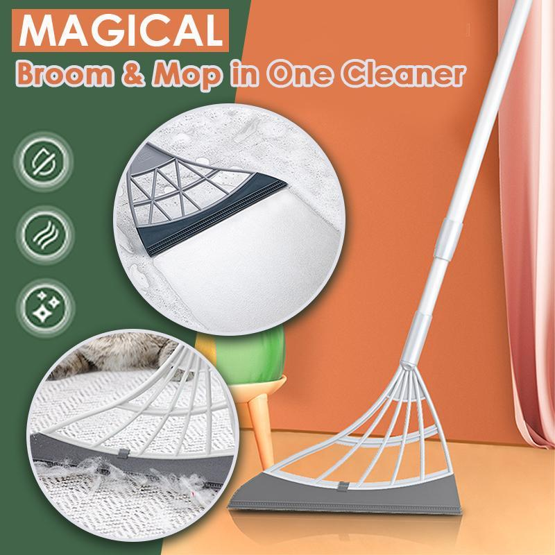 Magical Broom and Mop in One Cleaner