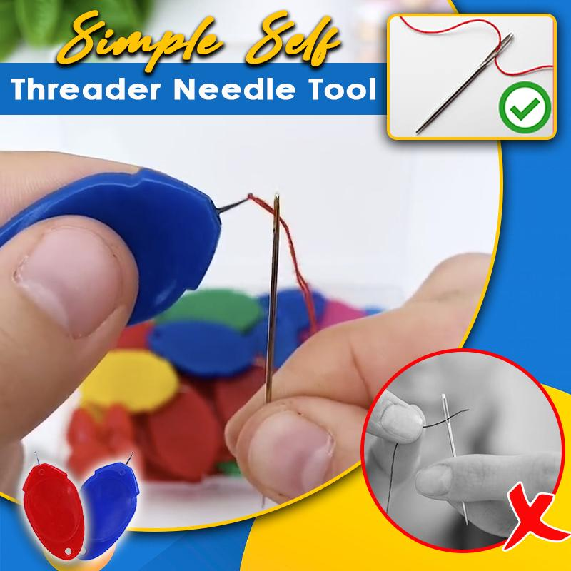 Simple Self Threader Needle Tool