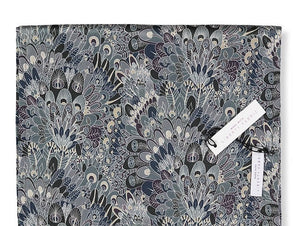 Liberty London Scarf. Silver Grey/Peacock. 100% Baby Alpaca Fleece & 100% Silk