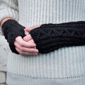 Fingerless Mittens - Alpaca Knit.