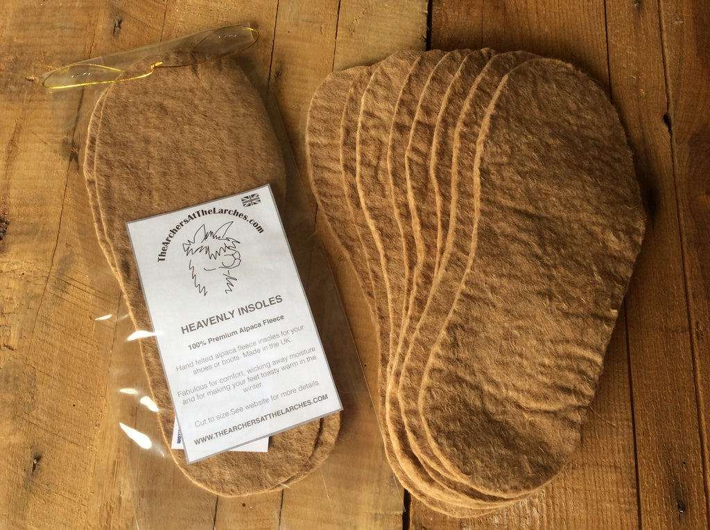 Heavenly Alpaca Insoles - 100% Premium Alpaca Fleece