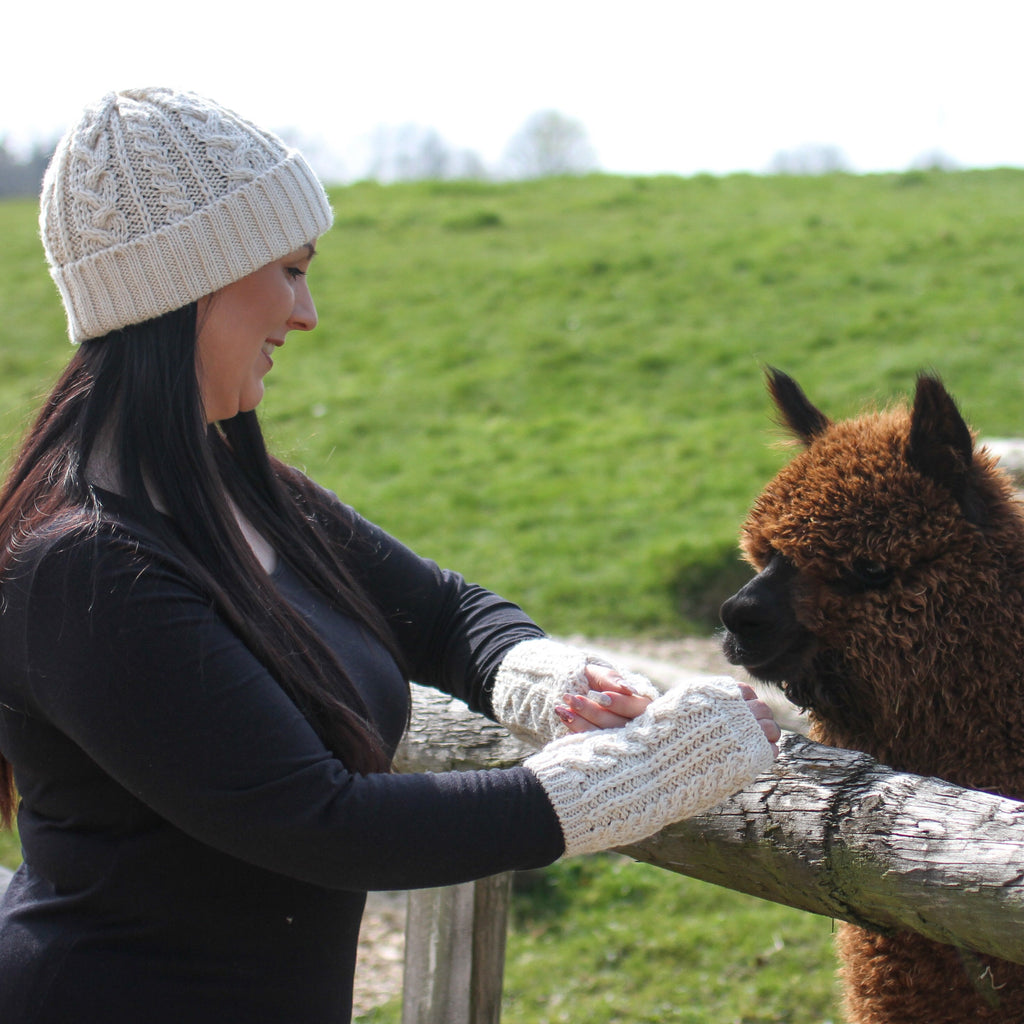 Alpaca Fleece Knitted Hat