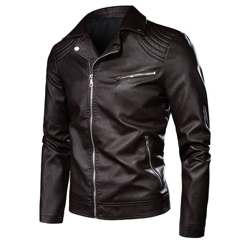 Men Casual Leather Jacket - LION HEART LEATHERS