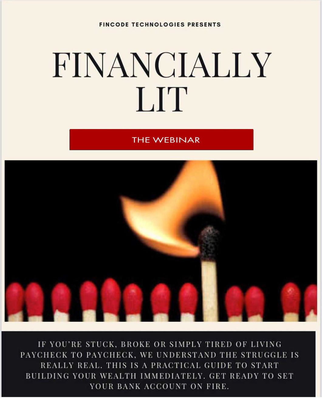 Financially Lit Webinar (FREE)