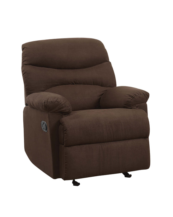 Arcadia Chocolate Microfiber Recliner (Motion) image