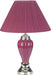 Pottery Burgundy Table Lamp image