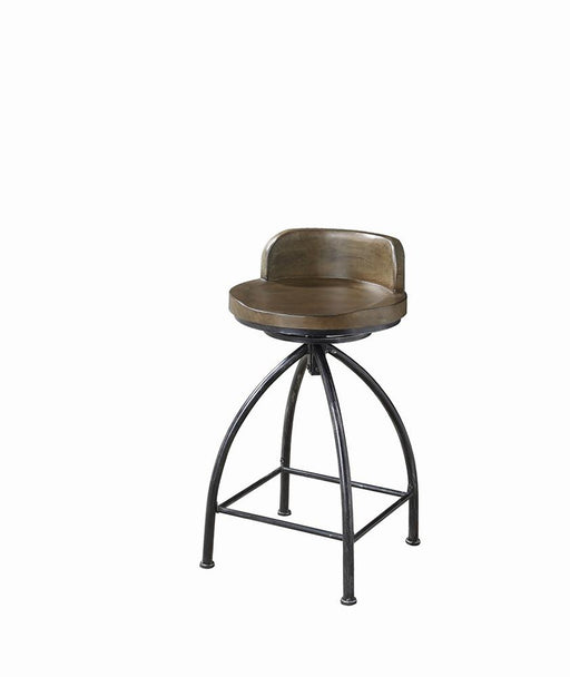 Rustic Swivel Metal Counter-Height Stool image