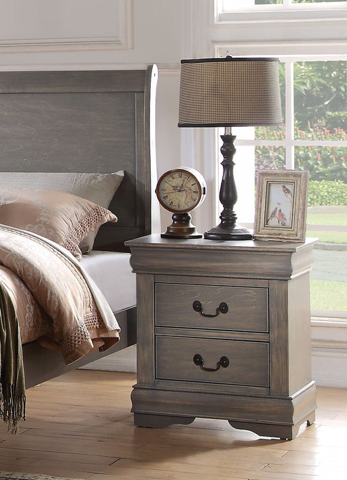 Louis Philippe Antique Gray Nightstand image