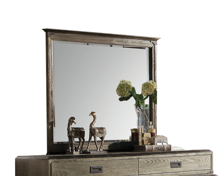 Athouman Weathered Oak Mirror image