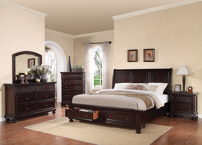 Grayson Dark Walnut California King Bed image