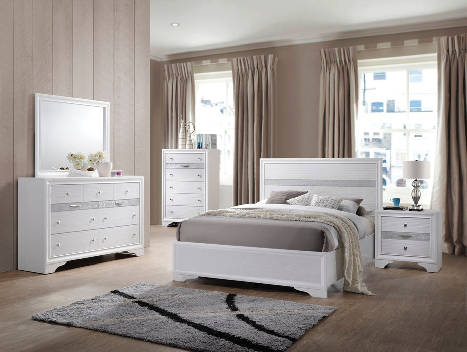 Naima White Twin Bed image