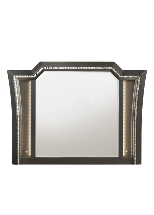 Kaitlyn Metallic Gray Mirror image