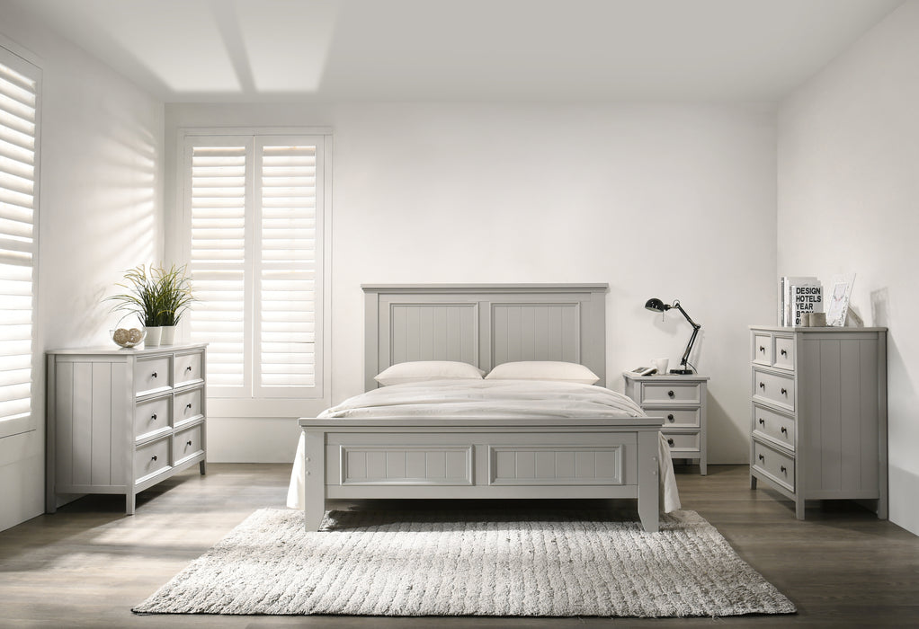 Elodi Light Gray Queen Bed image