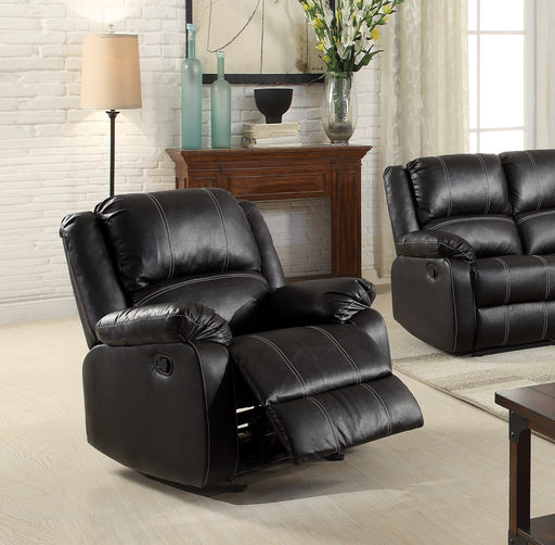 Zuriel Black PU Rocker Recliner (Motion) image