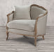 Ruby Sand Linen & Natural Oak Chair w/1 Pillow image