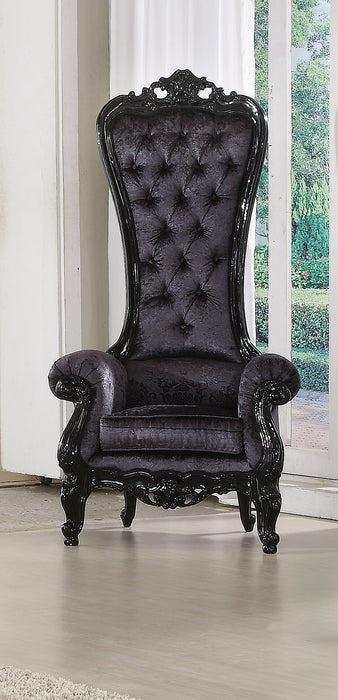 Raven Black Frame & Black Fabric Accent Chair image